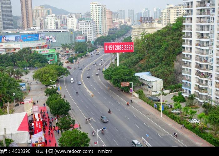 三亚市城市街道街景高清图片下载 编号4503390 红动网图片