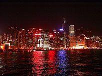 香港维多利亚港湾夜色