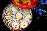 高档礼盒包装的曲奇饼干