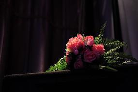 阳光光顾的一束花