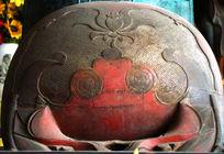 大觉寺里珍藏的大木鱼