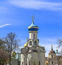 圣母安息大教堂洋葱头圆顶建筑
