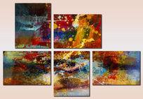 现代抽象装饰组合画