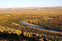 根河湿地河湾风景