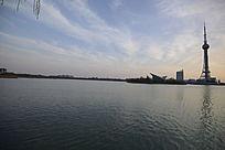 焦作龙源湖和电视塔