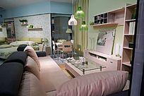 浪漫温馨的沙发影视柜