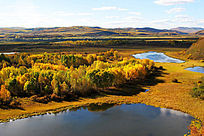 湿地湖泊之秋
