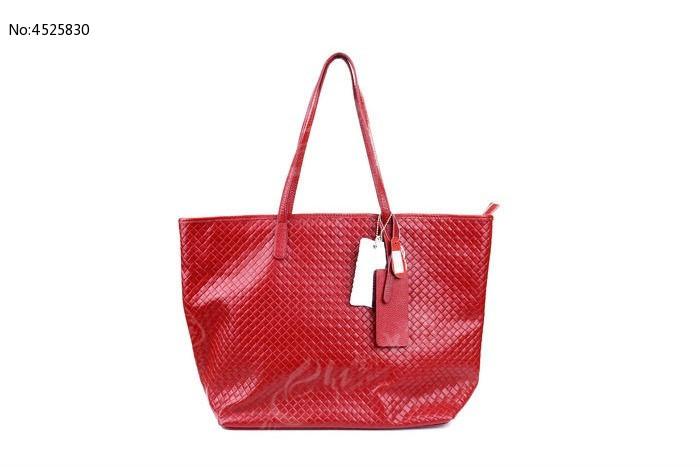 时尚红色女士真皮包