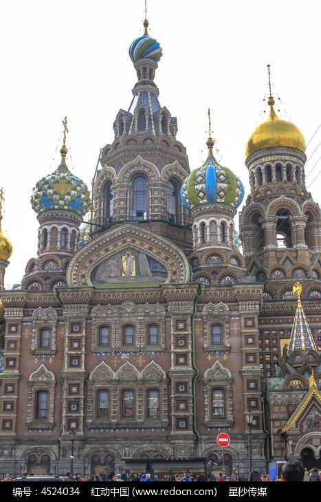 俄罗斯基督复活教堂建筑物图片