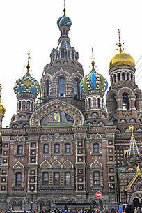 俄罗斯基督复活教堂建筑物