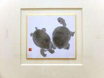 国画水墨之小乌龟画片