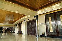 豪华的酒店大堂过厅