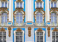 皇村普希金城叶卡捷琳娜宫的窗户