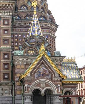 圣彼得堡基督复活教堂建筑风乐