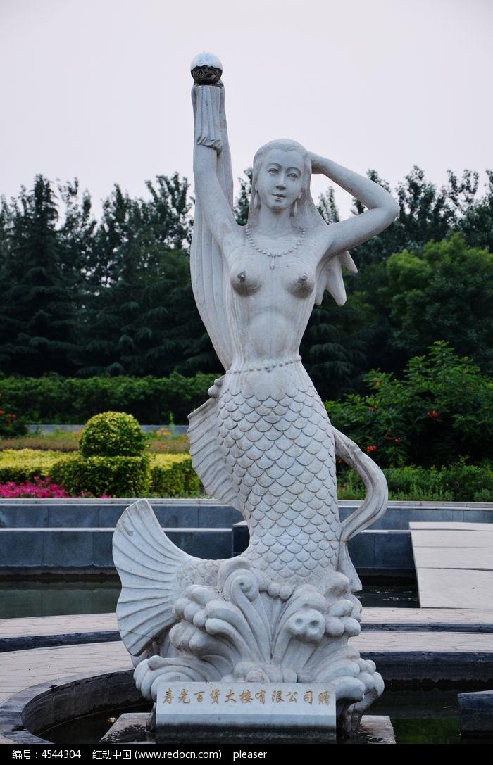 美人鱼雕塑图片,高清大图