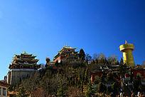 香格里拉龟山大佛寺全景