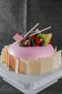 粉红恋曲美味蛋糕