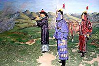 海兰察在战场蜡像