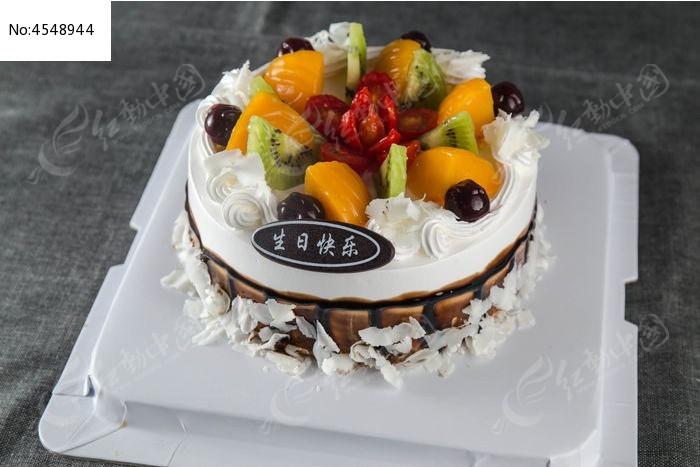 黑白色生日蛋糕