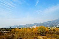 秋季的泰城西部风光