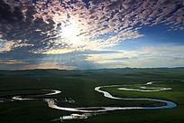 呼伦贝尔草原河之光