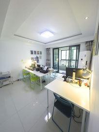 明亮的小型办公室工作室