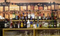 酒吧酒瓶陈列架