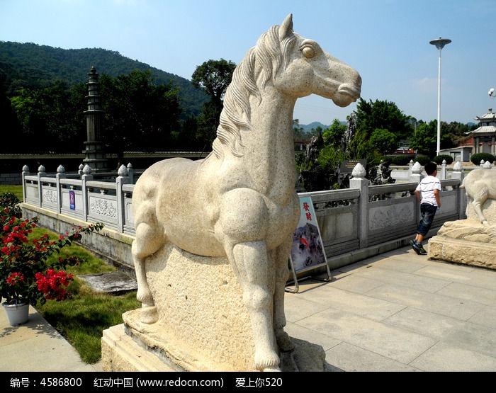十二生肖 雕塑 马