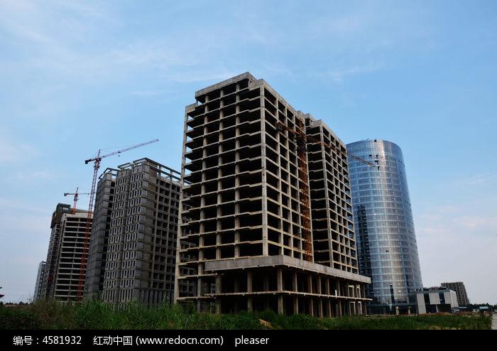 寿光企业总部群在建大厦
