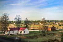 俄罗斯村庄景象