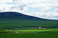 牧场蒙古包