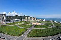 大连星海广场全景图