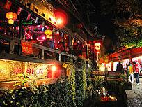丽江古城酒吧街灯火阑珊