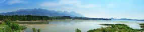 山水美景湿地公园宽屏风光