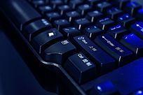 电脑键盘局部细节高清拍摄