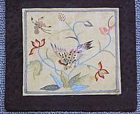 满族刺绣(花卉图案)