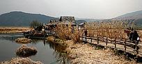 湿地栈道及小屋