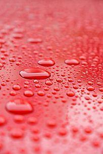 下雨过后的水珠背景素材