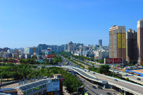 海口南大桥接壤的龙昆北区域城市风光