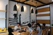 饺子馆墙面手绘效果