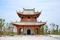 麻城移民文化公园亭子