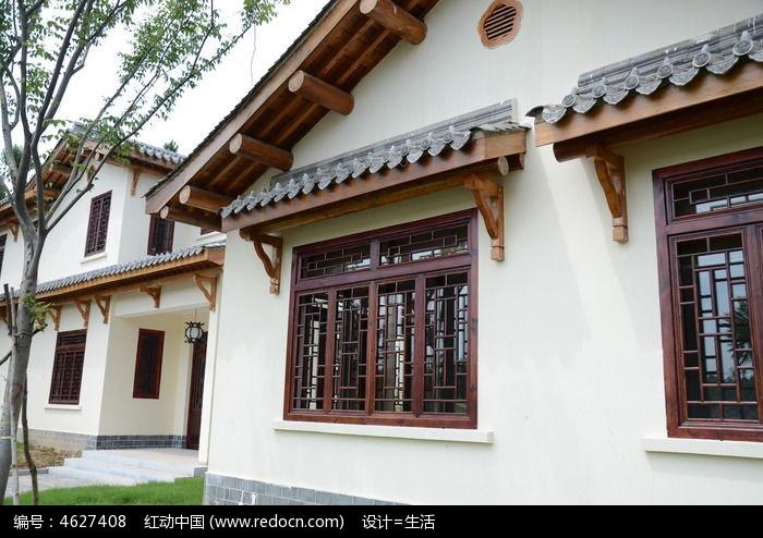 中式建筑窗子图片