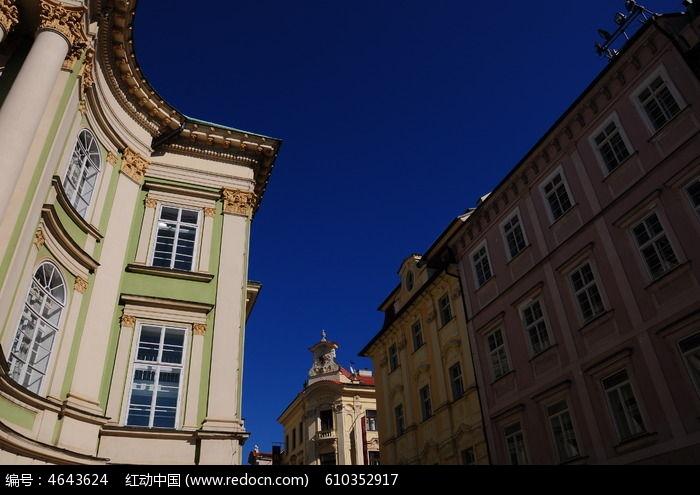 布拉格的欧式房子图片