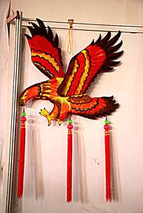 大鹏展翅鹰图案荷包