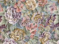 多彩菊花花纹布