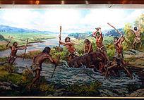 《古人类狩猎图》