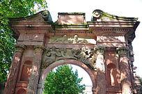 海德堡的老城堡界限