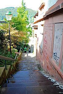 海德堡的老城堡楼梯