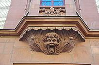 海德堡老城堡的雕像