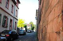 海德堡老城堡区的街道